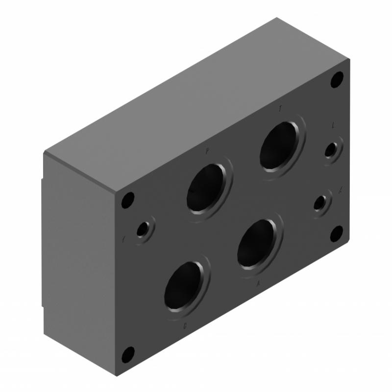 Монтажная плита для гидрораспределителя G151/01 G154/01 G156/01 купить ponar