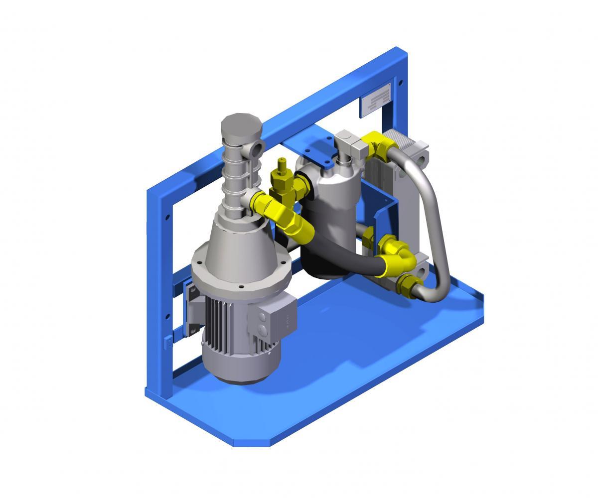 Гидростанция охлаждения и фильтрации UHCH станция перекачки масла