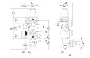 Гидрораспределитель секционный 45L FW GMB Hydraulic схема